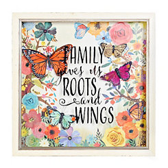 Family Gives Us Roots and Wings Shadowbox