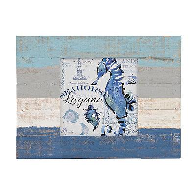 Seahorse Slatted Palette Framed Art Print