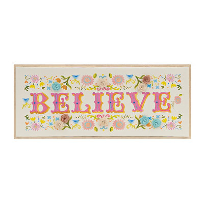 Embellished Believe Framed Canvas Art Print