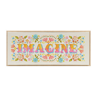 Embellished Imagine Framed Canvas Art Print