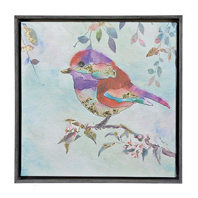 Colorful Birds II Framed Canvas Art Print