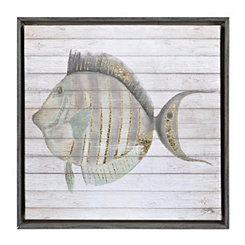 Striped Fish II Framed Canvas Art Print