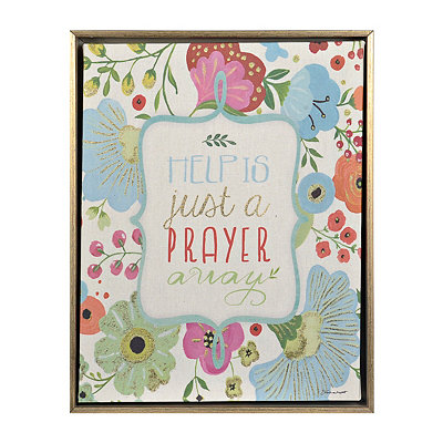 Floral Prayer I Framed Canvas Art Print