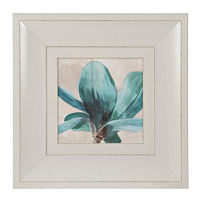 Turquoise Floral Stem II Framed Art Print