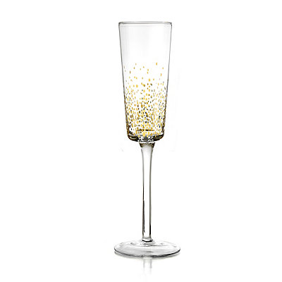 Gold Luster Flutes, Set of 4