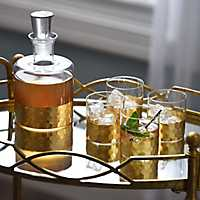 5 piece Daphne Gold Whiskey Set