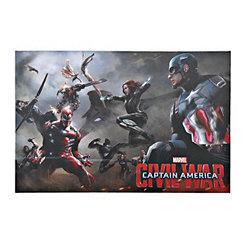 Captian America Civil War Lineup Canvas Art Print