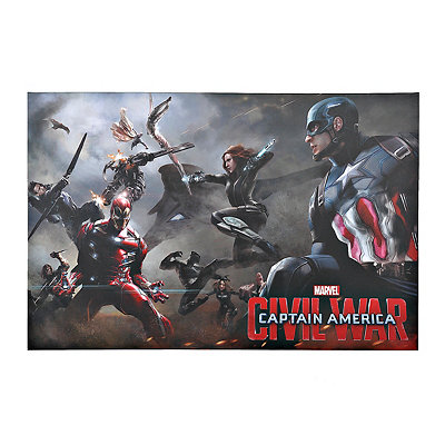 Captian America Civil War Lineup Canvas Art Print