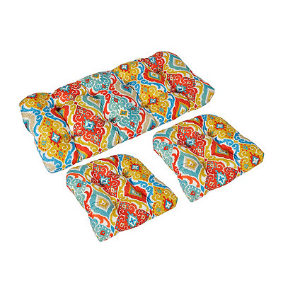 Multicolor Ikat Outdoor Cushions, Set of 3