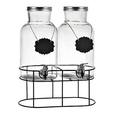 Long Neck Beverage Dispensers, Set of 2