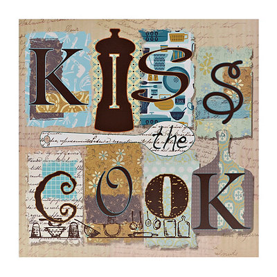 Kiss the Cook Canvas Art Print