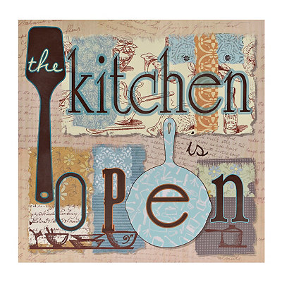 The Kitchen is Open Canvas Art Print