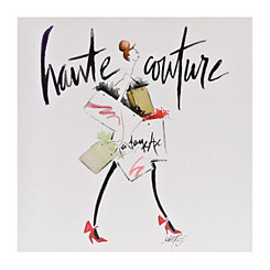 Shopping Spree Haute Couture Canvas Art Print