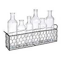 Chicken Wire Bottle Vase Runner, Set of 7