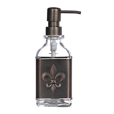 Bronze Fleur-de-lis Band Soap Pump