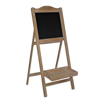 Natural Chalkboard Easel with Basket