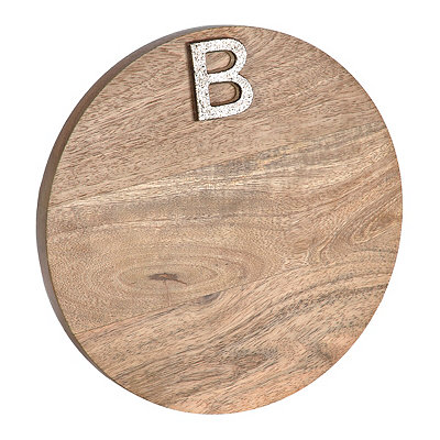 Round Monogram B Wood Cutting Board