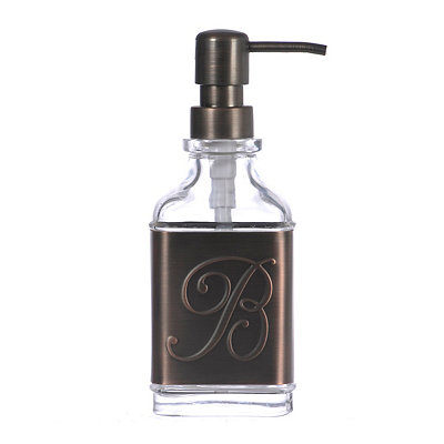 Bronze Monogram B Band Soap Pump