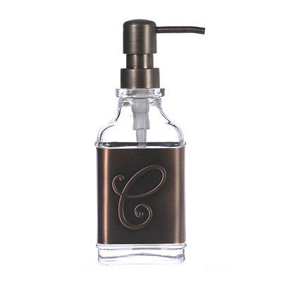 Bronze Monogram C Band Soap Pump