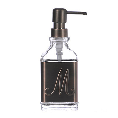 Bronze Monogram M Band Soap Pump