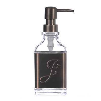 Bronze Monogram J Band Soap Pump