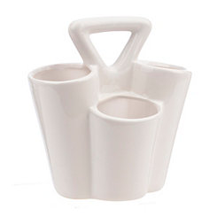 White Ceramic Utensil Caddy