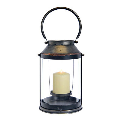 Round Zinc and Copper Lantern