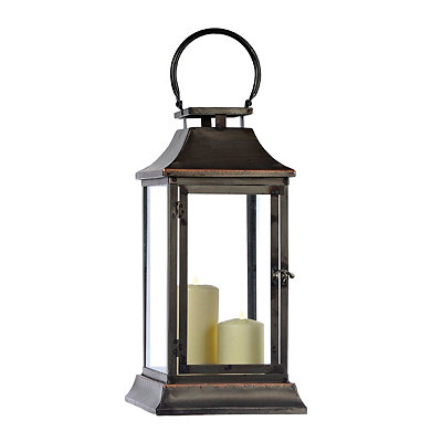 Square Zinc and Copper Lantern
