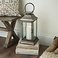 Square Zinc and Copper Lantern
