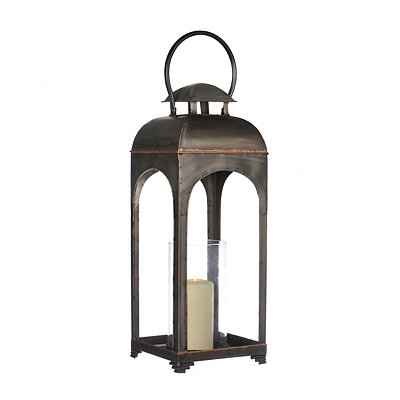 Arched Zinc and Copper Metal Lantern