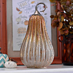 Amber Foil Glass Gourd