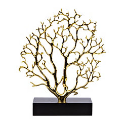 Metallic Gold Coral Statue