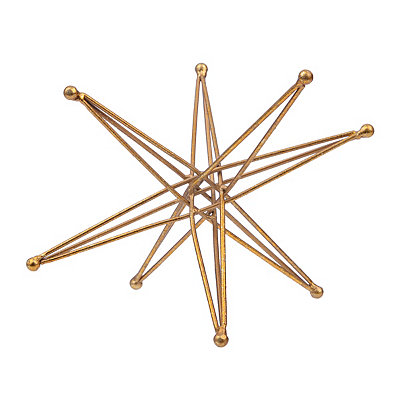 Geometric Gold Star Sculpture