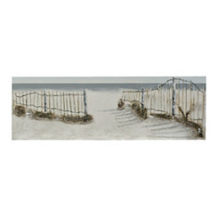 Coastal Fence Canvas Art
