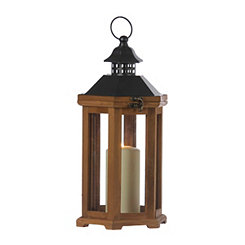 Simple Brown Wood Lantern