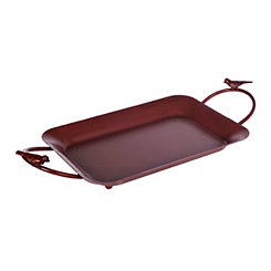 Red Little Birds Metal Tray