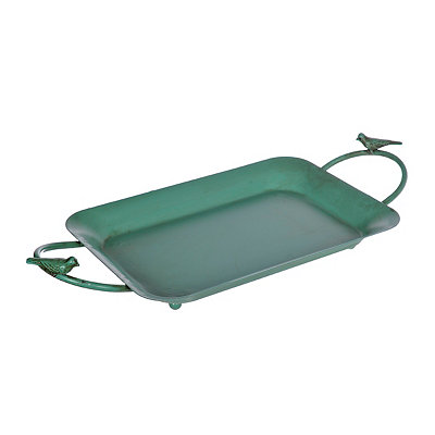 Turquoise Little Birds Metal Tray