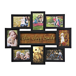 Live Love Smile 8-Opening Collage Frame