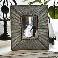 5x7 Inch Galvanized Metal Picture Frame