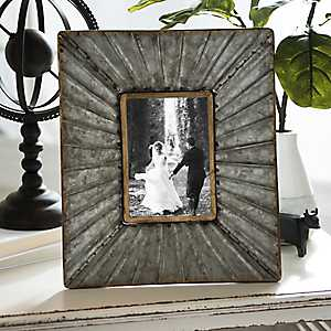 Galvanized Metal Picture Frame, 5x7