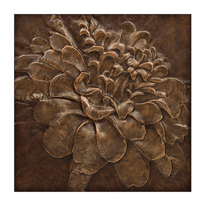 Bronze Zinna Metal Wall Plaque