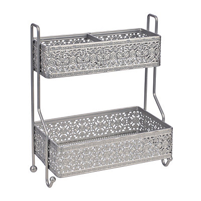 Silver 2-Tier Vanity Tower