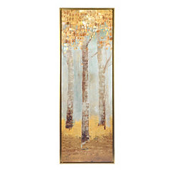 Golden Forest I Framed Art Print
