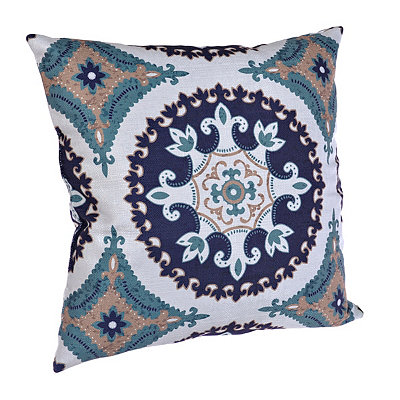 Navy and Teal Olivia Pillow