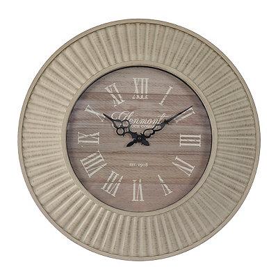 Antique Whitewash Ridged Clock