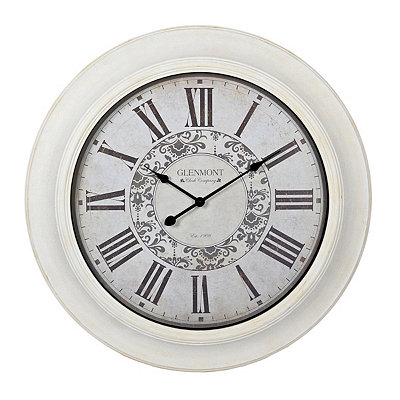 Claire Whitewash Clock