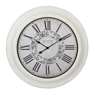 Claire Whitewash Clock