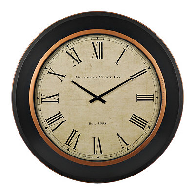 Black and Gold Draper Clock