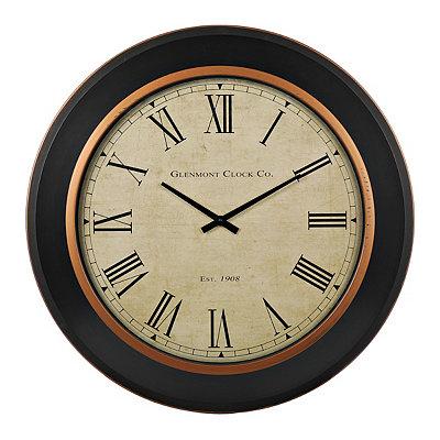 Black and Gold Draper Clock