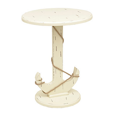 White Wooden Anchor Table